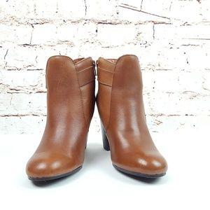 LIZ CLAIBORNE|Cognac Brown Booties Ankle Boots 7M